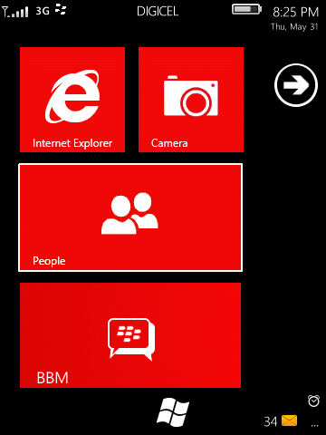 BB Windows Phone 7 Red Theme