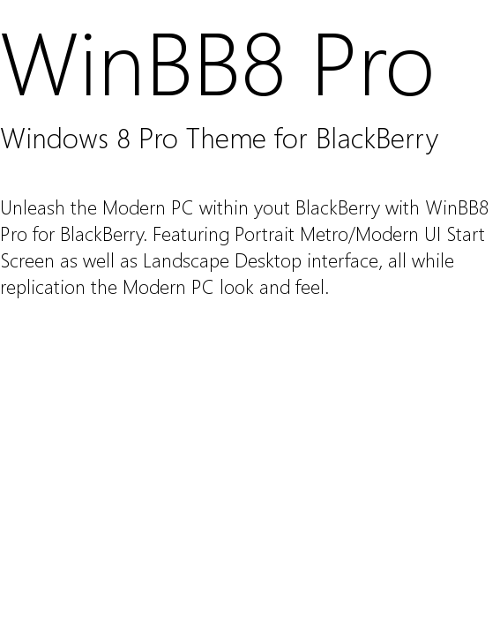 WinBB8 Pro Description